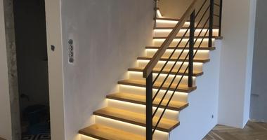 Обшив бетонного основания лестниц